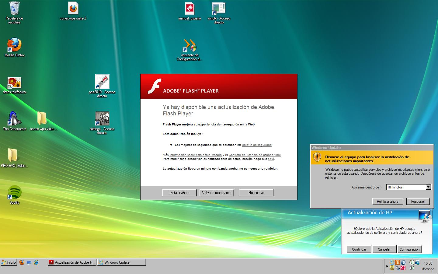 Actualizaciones en Windows