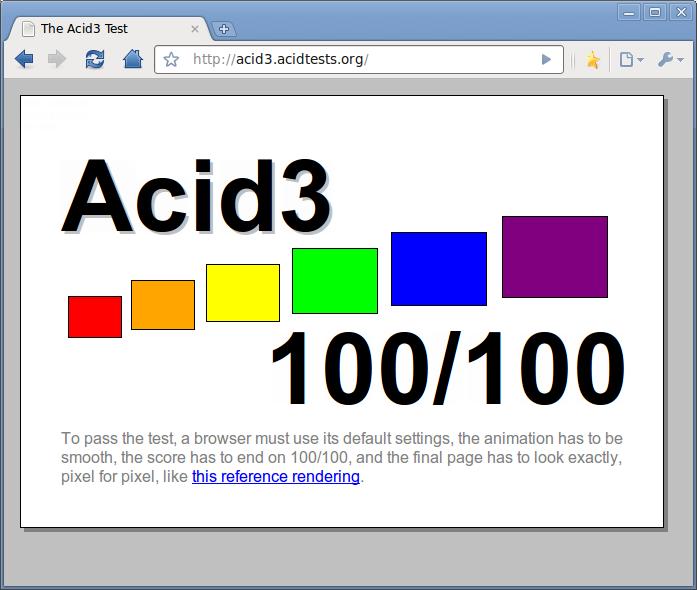 Acid3 en Chromium 5