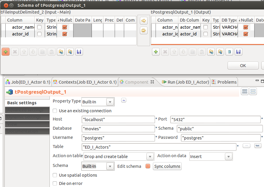 Getting started with Talend Open Studio Data Integration and